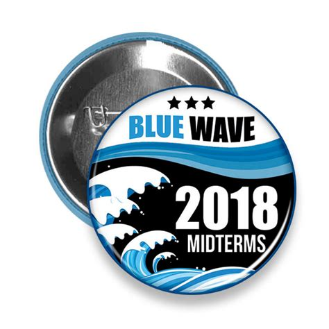 blue democrat democrats quot blue wave quot 2018 midterm elections pinback button left rights