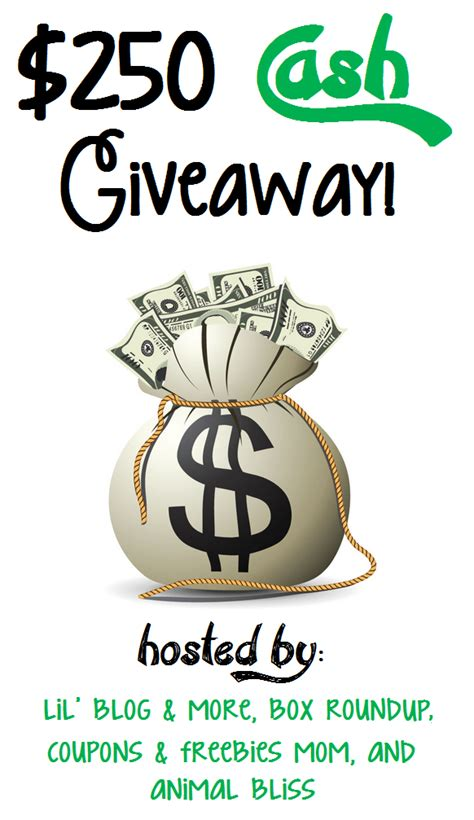 Great Cash Giveaway - love mrs mommy 250 cash giveaway