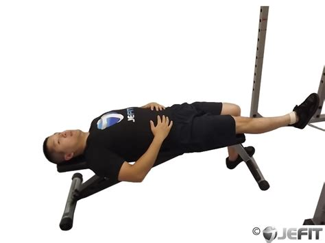 lying bench leg raise cable one leg lying knee raise exercise database jefit