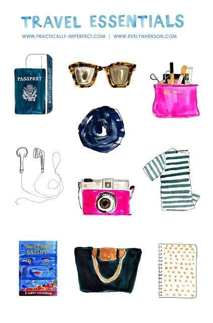 Drawings 8 Essentials by Travel Essentials Carry On Essentials What To Pack