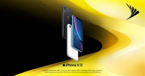 iphone xr arrives today at sprint stores just 0 per month with lease and eligible trade in