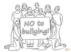 anti bullying color bullying awareness coloring worksheet coloring pages