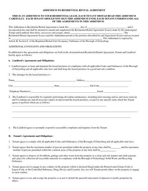 template residential lease agreement standard residential lease agreement template sle