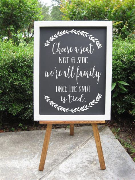 Wedding Quotes A Seat Not A Side by Choose A Seat Not A Side Decals Rustic Wedding Sign
