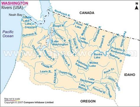 washington rivers map washington river map geology u s river basins