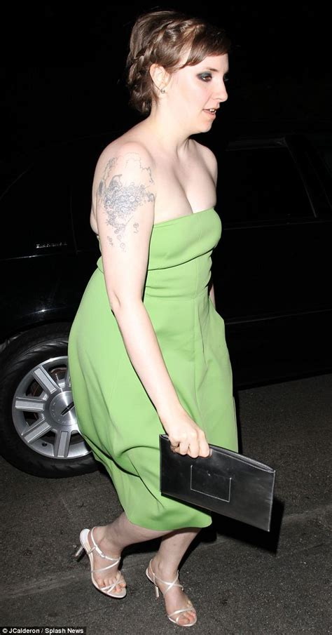 lena dunham tattoos lena dunham shows collection in lime green