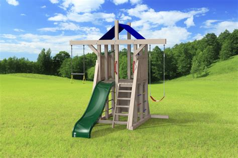 compact backyard playset outdoor swing set the compact 4x4 jeux modul air