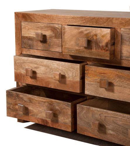 cassettiere basse 242 etnico in legno ethnic chic mobili su misura etnici