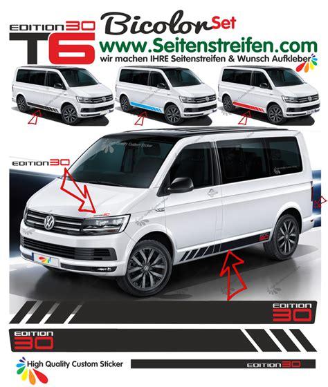 Aufkleber Vw Bus T5 by Vw Bus T5 T6 Multivan Edition 30 Seitenstreifen Aufkleber