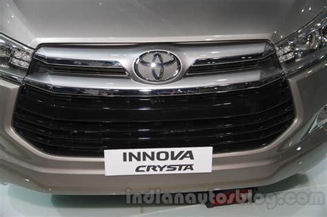Gril Innova 2008 toyota innova crysta grille at auto expo 2016 indian autos