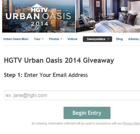 Hgtv Sweepstakes 2014 - hgtv urban oasis 2014 sweepstakes sweeps maniac