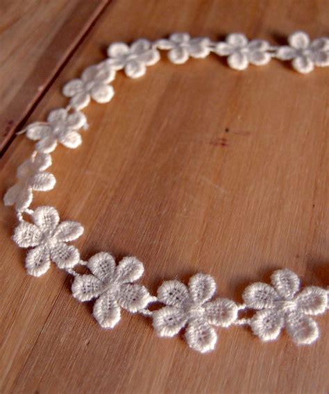 Lace Trim Floral ivory cotton floral lace trim ribbon