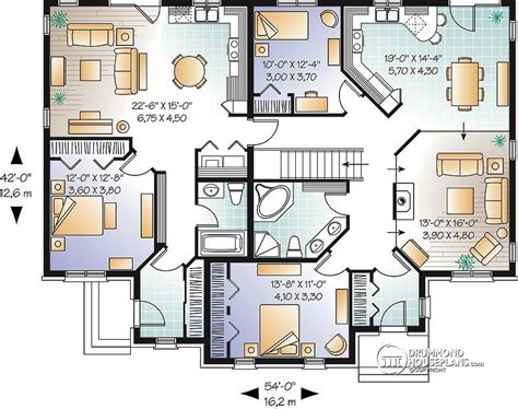 dual family house plans multi family house plan multi family home plans house