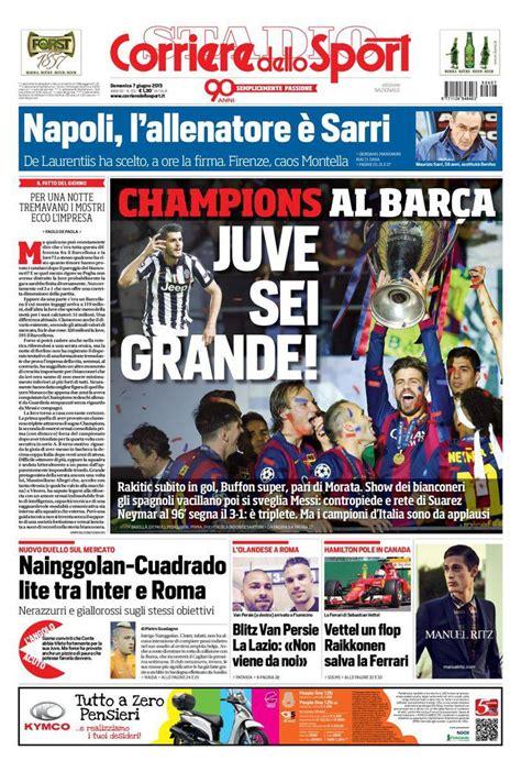 corriere dellos corriere dello sport prima pagina 7 giugno