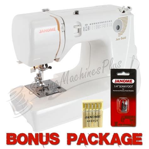 compact sewing machine janome jem gold 660 lightweight sewing quilting machine w