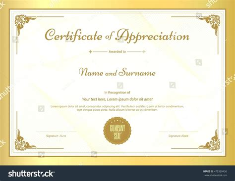 template for a certificate of appreciation template template of certificate of appreciation