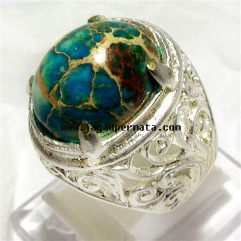 Paparaca Ring Alpaka batu pirus asli jp413 jual batu permata hobi permata
