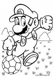 super mario bros che gioca calcio da colorare disegni da colorare stampare gratis immagini