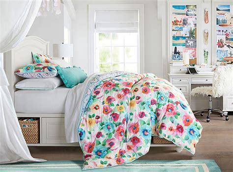 pbteen bedrooms rainbow blossoms chelsea bedroom pbteen