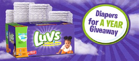 Diapers For A Year Sweepstakes - free luvs diapers for a year sweepstakes