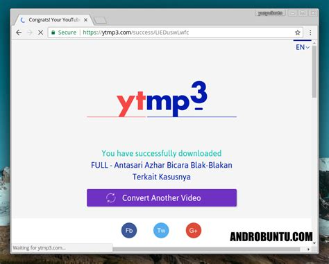 cara membuat youtube menjadi mp3 cara download video youtube menjadi mp3 androbuntu