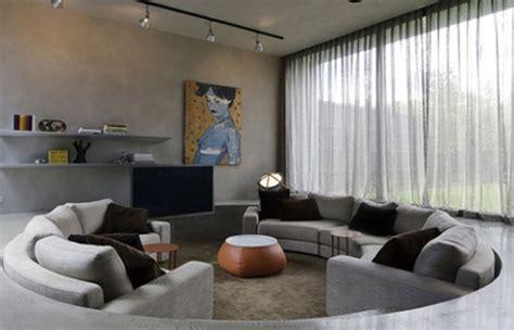 conversation  comfy sunken living room design