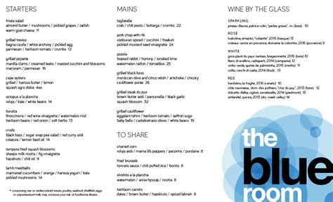 blue room menu the blue room is reborn today eater boston