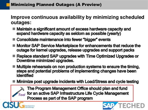 Sap Tech Ed13 Asug Delivering Continuous Sap Solution Availability Availability Email Template