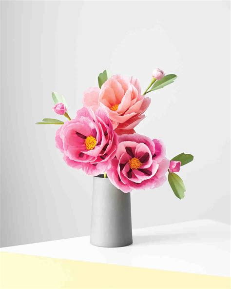 How To Make Tissue Paper Flowers Martha Stewart - how to make paper flowers peony martha stewart weddings