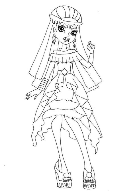 monster high printable coloring pages abbey monster high coloring pages abbey coloring home