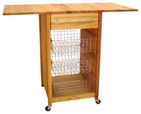 cuisine butcher block kitchen island cart with drop leaf catskill craftsmen basket butcher block kitchen cart with