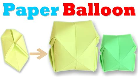 how to make an origami balloon step by step paper