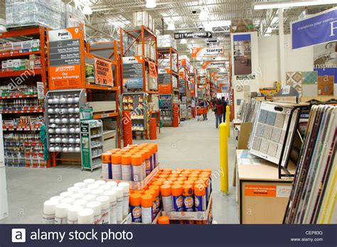 home depot interior interior of home depot home improvement store stock photo