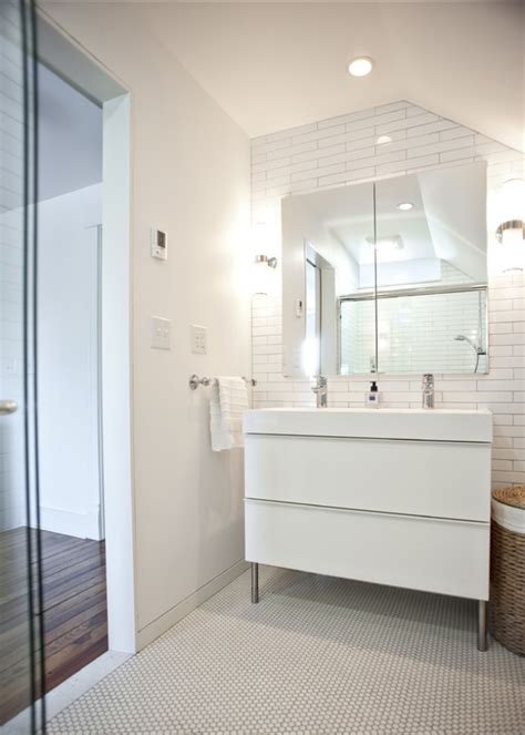 rock paper hammer architects designers modern bathroom vanity ikea godmorgon cabinet in gloss