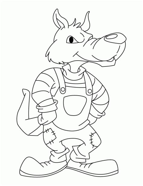 big bad wolf template big bad wolf coloring page coloring home