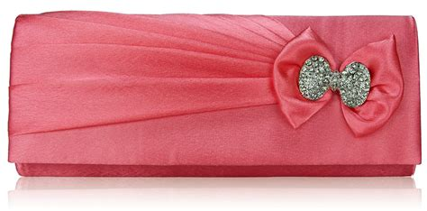 Clutch Satin Pink wholesale pink sparkly satin clutch purse