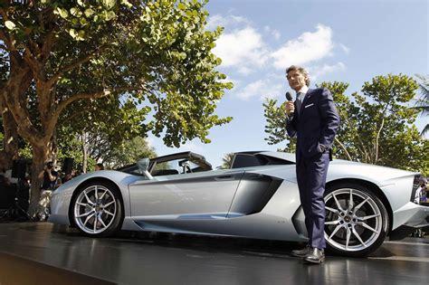 Miami Lamborghini Lamborghini Unveils Aventador Lp 700 4 Roadster In Miami