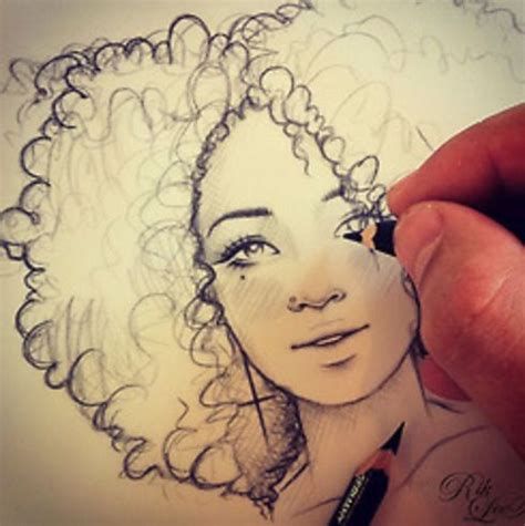 drawing curly hair curly haired girl drawing i love pinterest