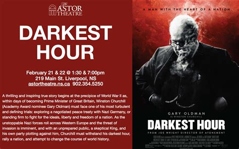 darkest hour movie tickets astor theatre darkest hour 1 30 7 00pm