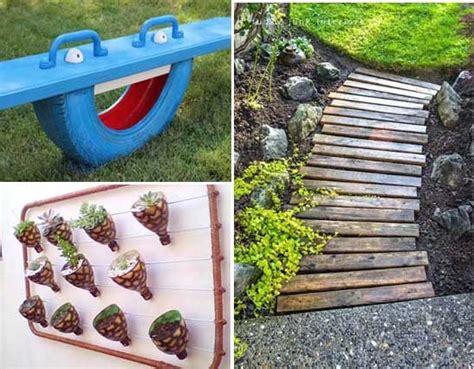 objetos para decorar jardines 10 proyectos diy para decorar el jard 237 n con objetos