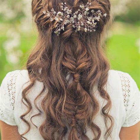 Brautfrisuren Lange Haare Halboffen Mit Schleier by Brautfrisuren Halboffen 10 Halbhochgesteckte