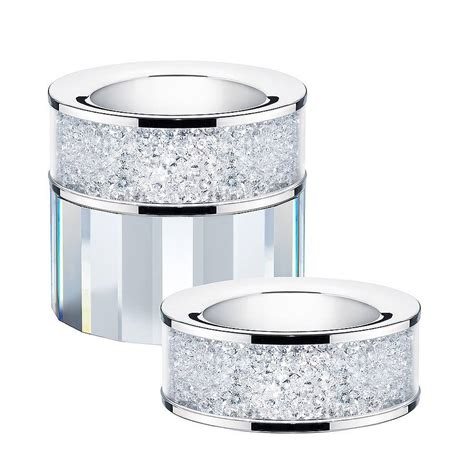 light holder tea light holder filled with swarovski crystals by diamond