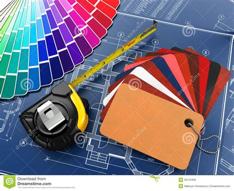 Free House Blueprints Interior Design Architectural Materials Tools And