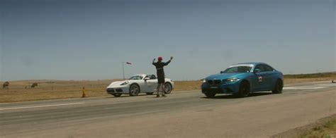 bmw boxster drag race bmw m2 coupe vs porsche 718 boxster s