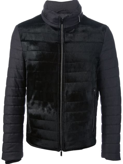 Armani Quilted Jacket by Emporio Armani Quilted Puffer Jacket In Black For Lyst