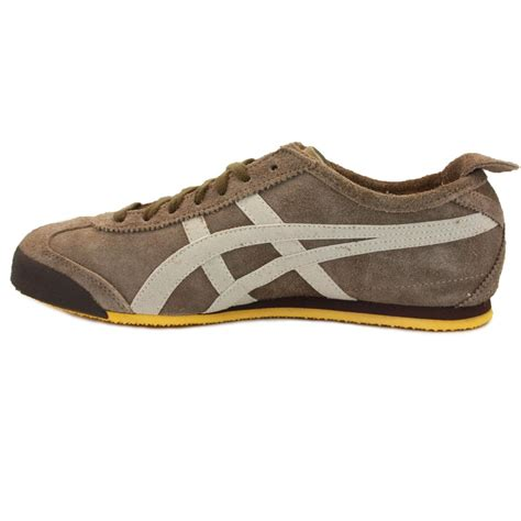 Onitsuka Tiger Suede Brown Original onitsuka tiger mexico 66 su mens suede laced trainers grey beige