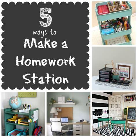 5 ways to make a homework station infarrantly creative