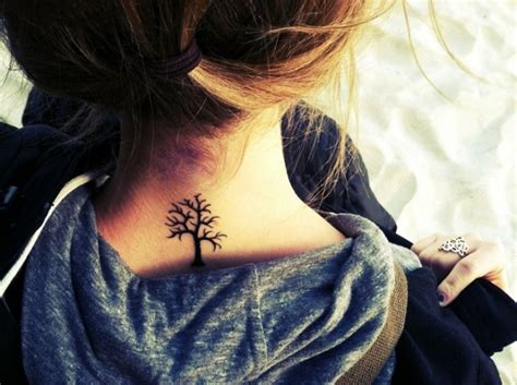 28 incredible small neck tattoos for women styleoholic