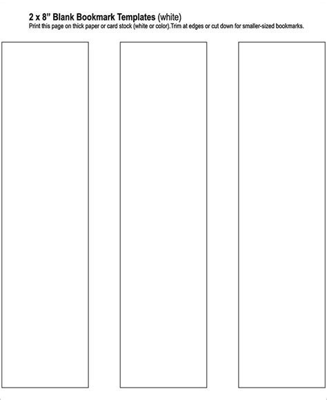 printable bookmark template blank bookmark template 135 free psd ai eps word