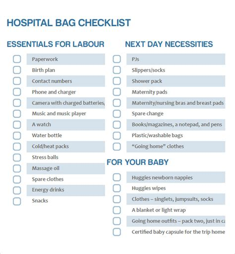 my parentimes printable checklists 9 babys layette newborn checklist 8 free download for pdf